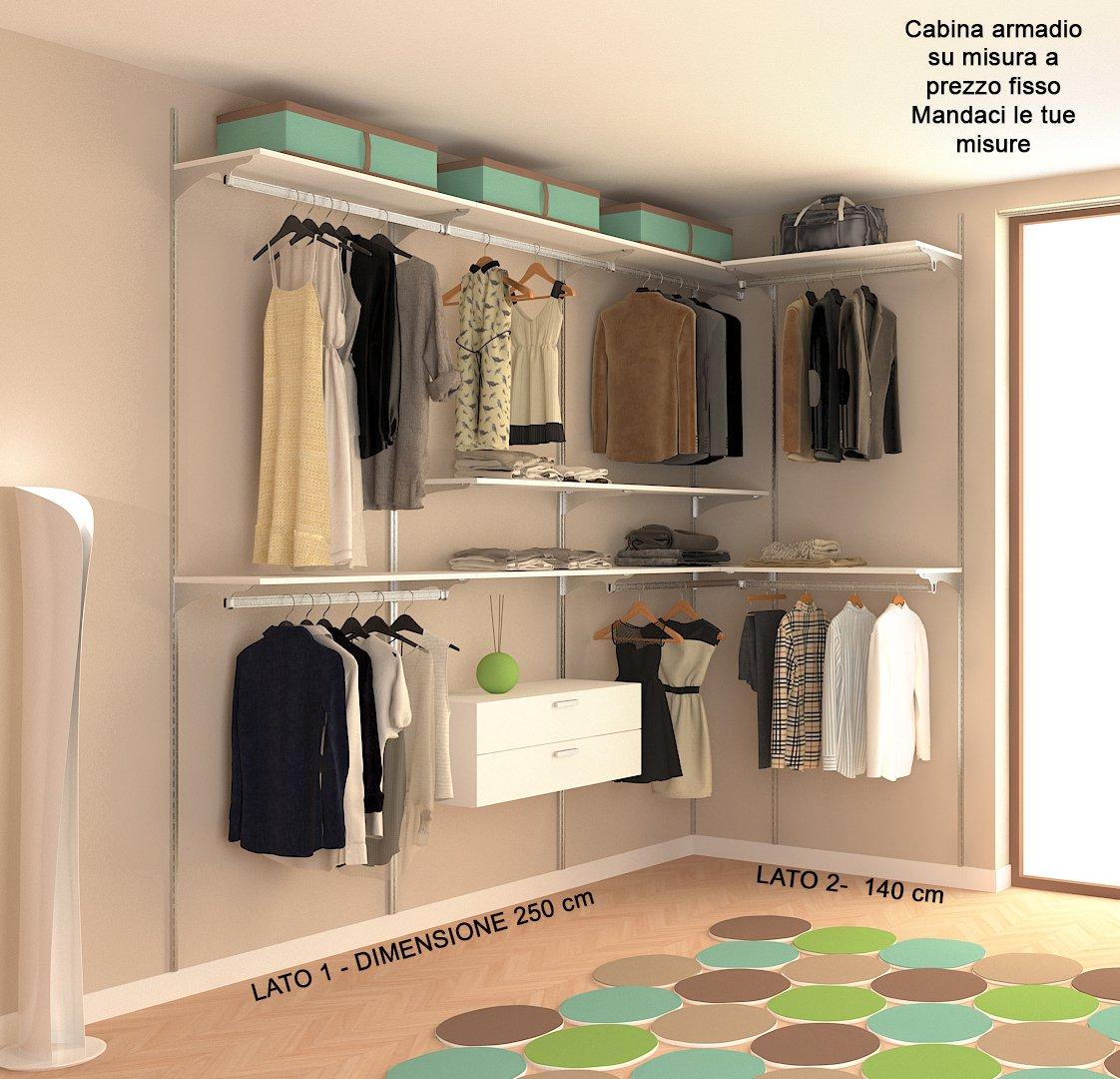 Dimensione armadio il ripostiglio with dimensione armadio - Dimensioni cabine armadio ...