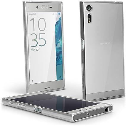 iGadgitz u5872 Funda TPU para Sony Xperia XZ f8331 & Dual f8332 Compact Carcasa con Protector – Transparente