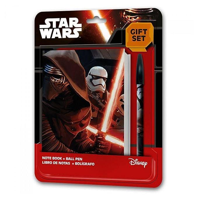 Amazon.com : Set papeleria Star Wars Episodio VII Agenda ...