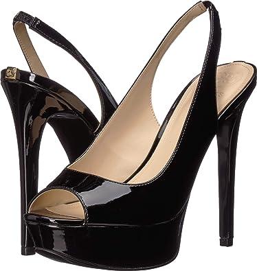 ab3cfaa802e GUESS Women s Sling Black Synthetic 7 ...