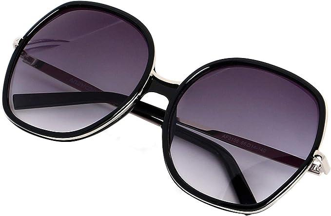 Big Square Sunglasses Women Men Vintage Metal Oversized Shades Eyewear  TnCL7