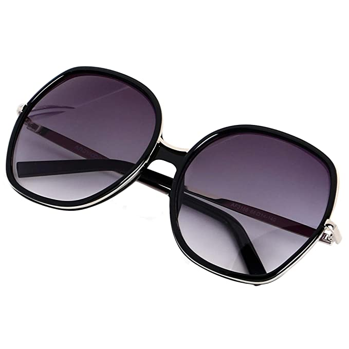 0dd877924f Image Unavailable. Image not available for. Color  ANDWOOD Oversized  Sunglasses Big Large Women Square Wide Black Brown Retro Trendy Pink