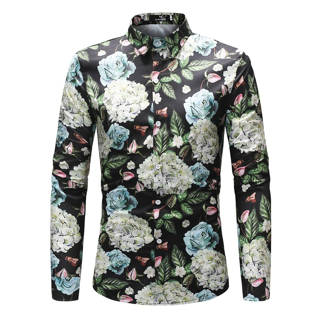 MYMSTORM Men Shirts allover Printed Fashion Style Spring Men's Button Down Shirt (L, CS37) by MYMSTORM (Image #1)