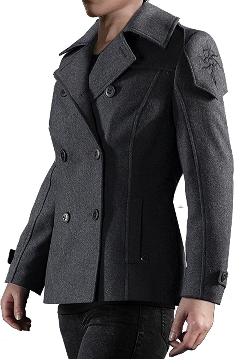 Musterbrand Dragon Age Jacket Women Seeker Wool Peacoat Grey