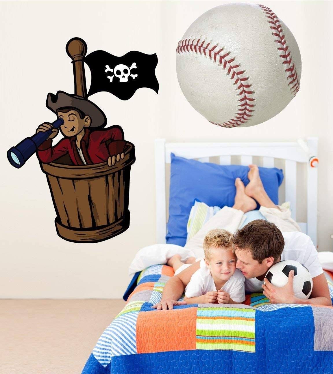 "Winn Pirate Crows Nest Wall Decal Cutout 44""x60"""