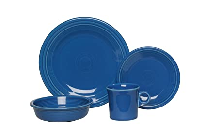 Fiesta 4-Piece Place Setting Lapis  sc 1 st  Amazon.com & Amazon.com | Fiesta 4-Piece Place Setting Lapis: Dinnerware Sets ...