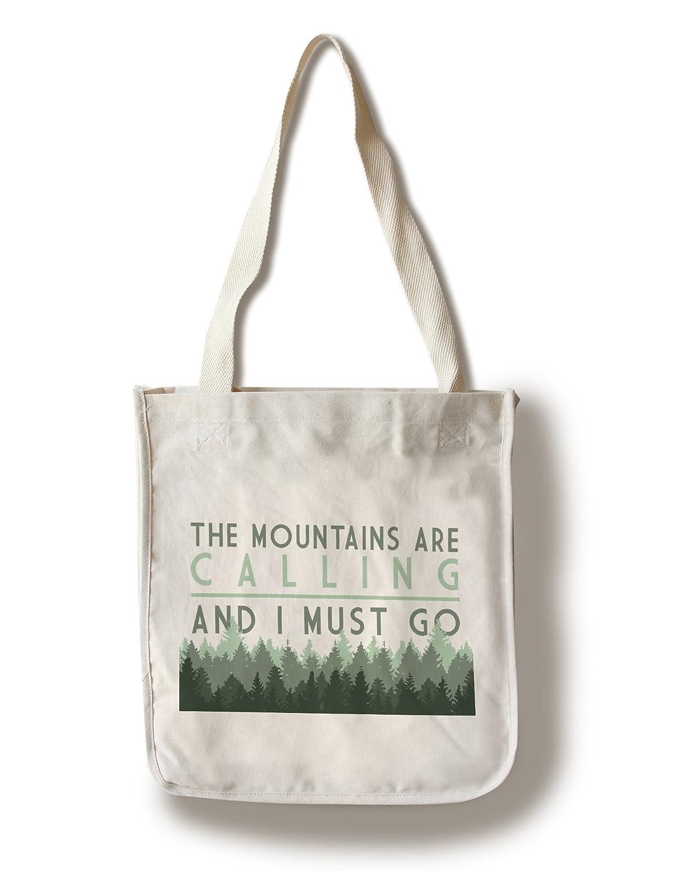 【即納&大特価】 The Mountains B076PQW7Z3 Are and Calling and Bag I must go – Pine Trees Canvas Tote Bag LANT-83606-TT B076PQW7Z3 Canvas Tote Bag, 新富士バーナー:7f163d72 --- 4x4.lt