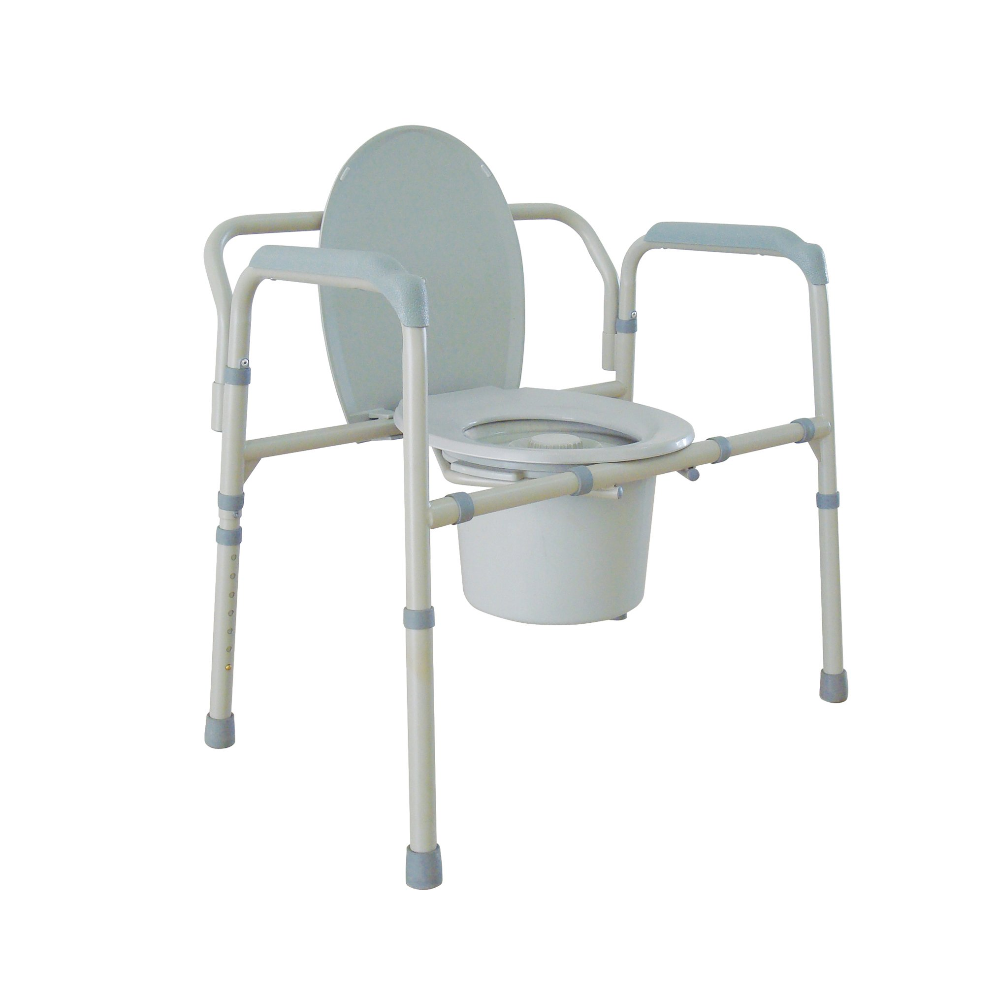 Drive Medical Heavy Duty Bariatric Folding Commode, Gray by Drive Medical