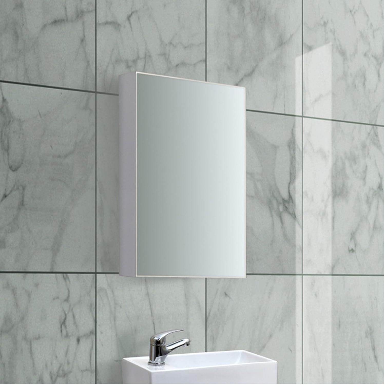 ENKI Mirror Cabinet White Gloss Vanity Unit Bathroom Wall Mount ...