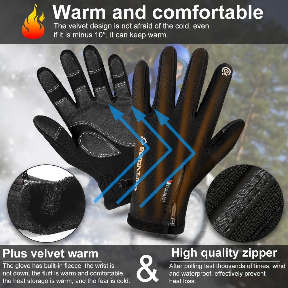 Nasharia Handschuhe f/ür Damen und Herren Fahrradhandschuhe Touchscreen Handschuhe Winddicht Warme rutschfest Handschuhe zum Radfahren Laufen Camping Wandern Reiten Bergsteigen Sport im Freien