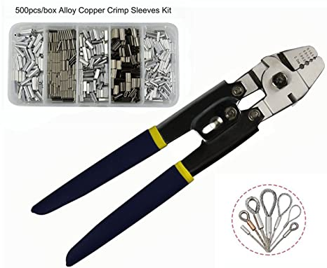 Wire Rope Swager Crimpers Fishing Crimping Tool for Copper Fishing ...