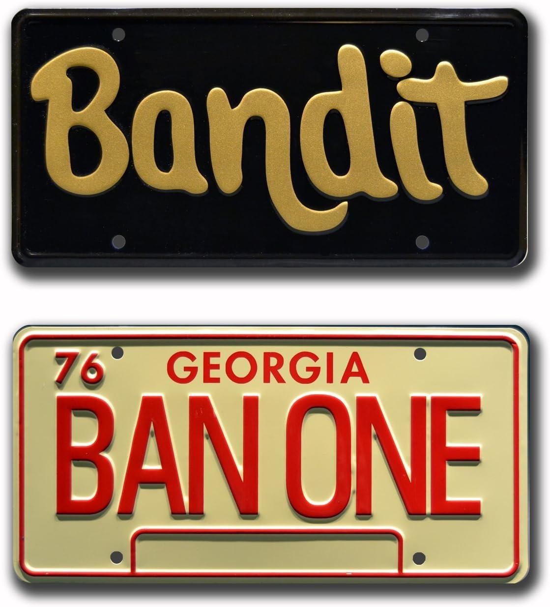 Metal Stamped License Plates Celebrity Machines Smokey and The Bandit Burt Reynolds