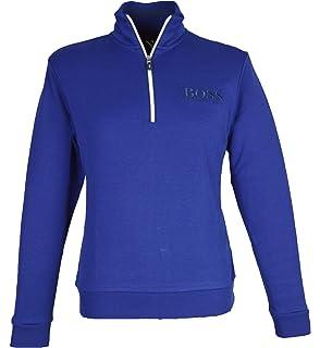 f3407de4c BOSS Hugo Men`s Sweat 1/2 Zip Sweatshirt - 50392547 - Blue (