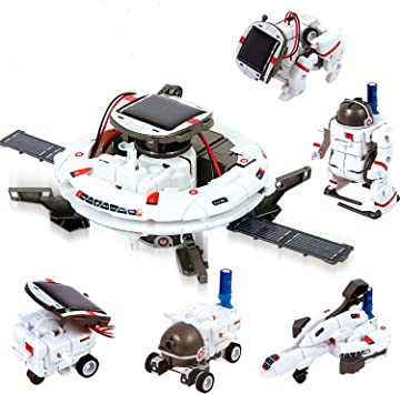 ATCRINICT STEM Toy 11-in-1 Solar Robot Kit for Kids Learning Science Building