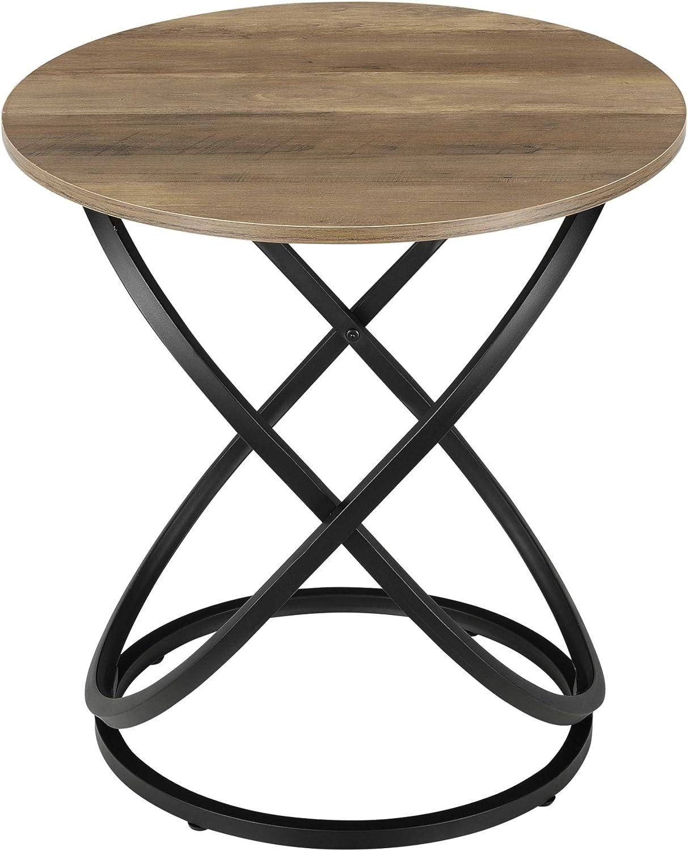 En Casa Coffee Table With Metal Frame 61 X 59 Cm Round Wood Look Amazon De Kuche Haushalt