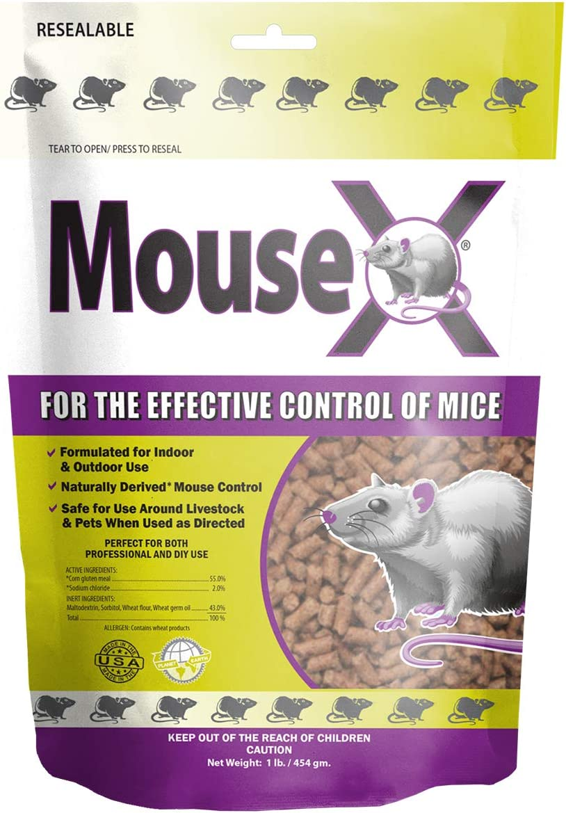 EcoClear Products 620201, MouseX All-Natural Non-Toxic Humane Mouse Killer Pellets, 1 lb. Bag