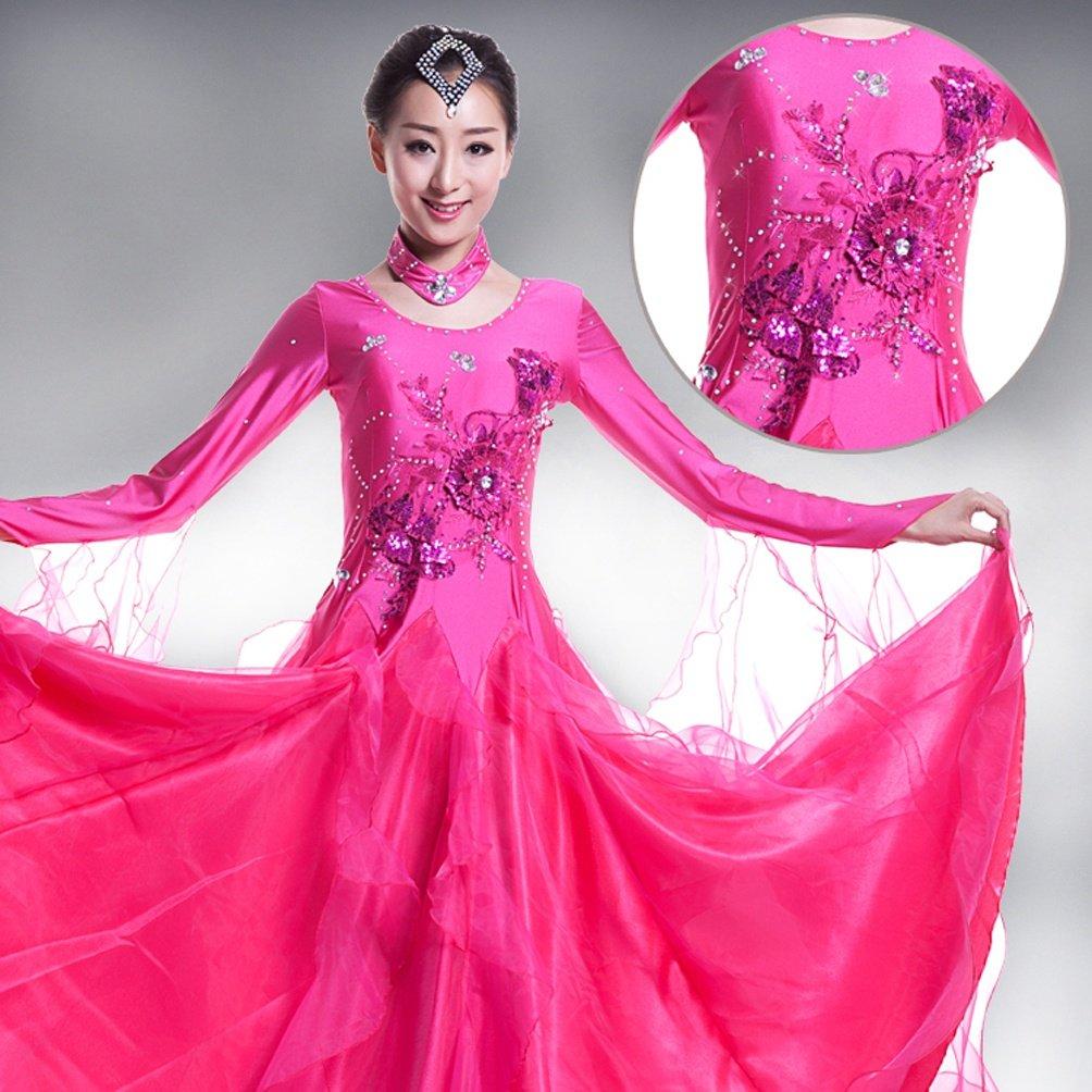 MoLiYanZi Wettbewerb Tanz Outfit Für Für Für Frauen Walzer Tanzbekleidung Lange Ärmel Modern Ballsaal Tanzkleider B07BZMRJ8Y Bekleidung Guter weltweiter Ruf 9edb42