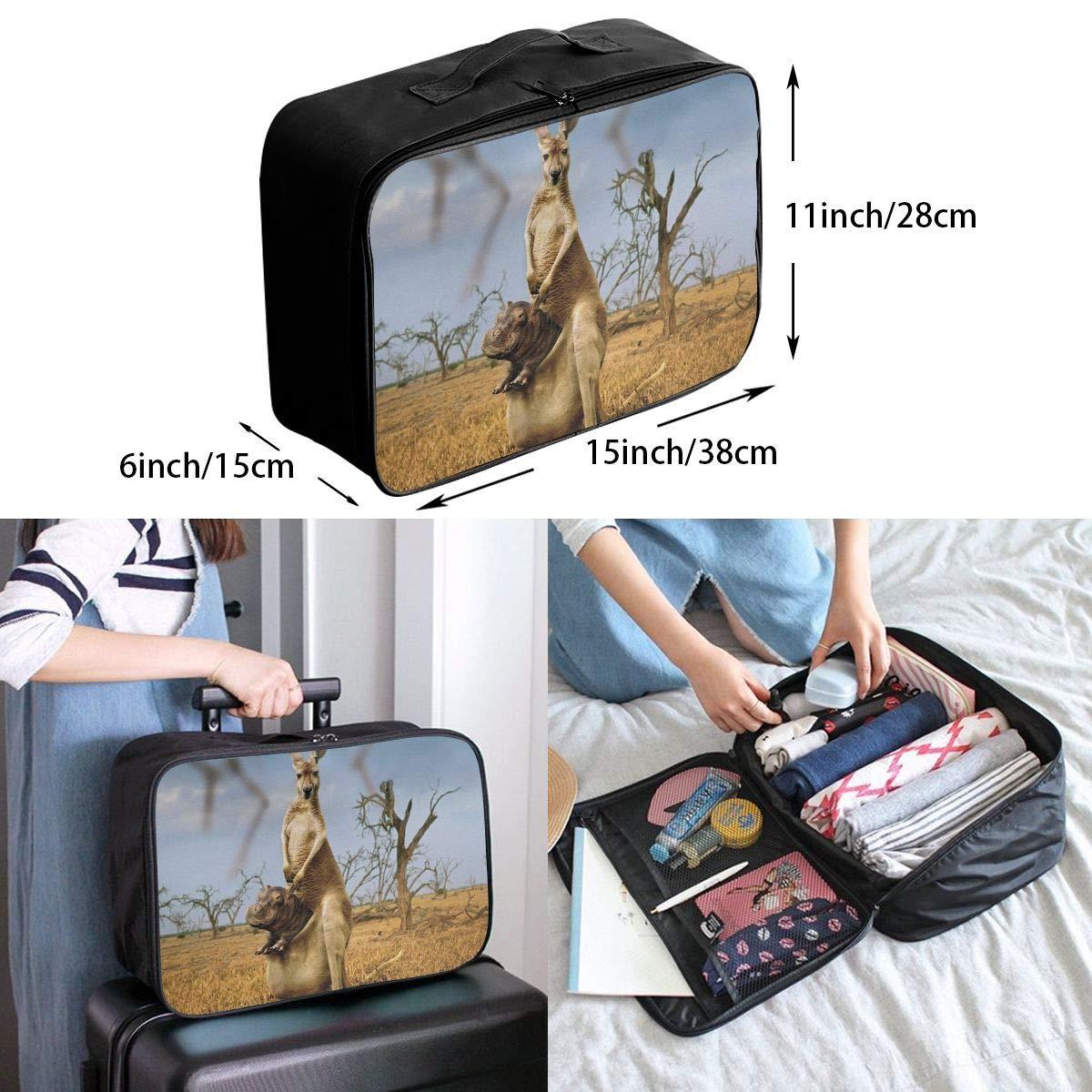 Travel Luggage Duffle Bag Lightweight Portable Handbag Hippo Kangaroo Large Capacity Waterproof Foldable Storage Tote