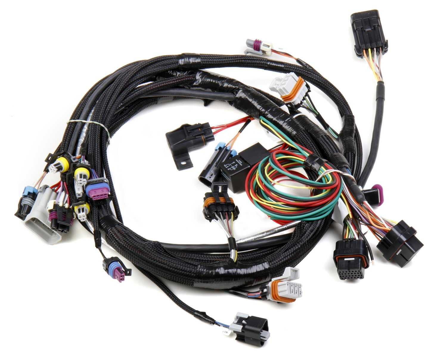 71R9M48Oc L._SL1500_ amazon com holley 558 102 ls1 main harness automotive 6.5 Diesel Wiring Harness at creativeand.co