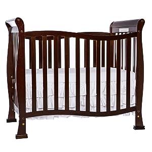 Dream On Me Violet Mini Crib in Espresso, Greenguard Gold Certified