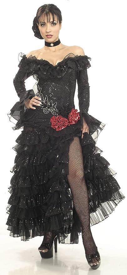Saloon Girl Costume   Victorian Burlesque Dresses & History Rubies Costume Co Black Senorita Costume Medium Medium $149.99 AT vintagedancer.com
