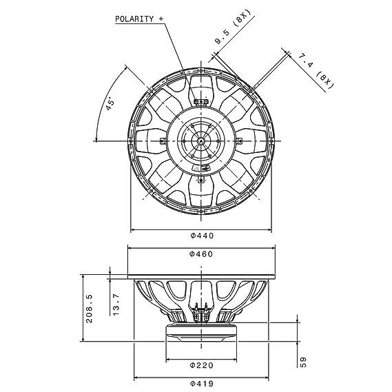 Amazon Com Pair Faital Pro 18hp1030 8ohm 18 Subwoofer 2400w 98db 4