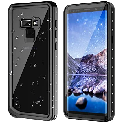 Note 9 Waterproof Case, Lanwow Samsung Note 9 Case with Screen Protector Support Wireless Charging Shockproof Dirtproof Rugged Waterproof Case for ...
