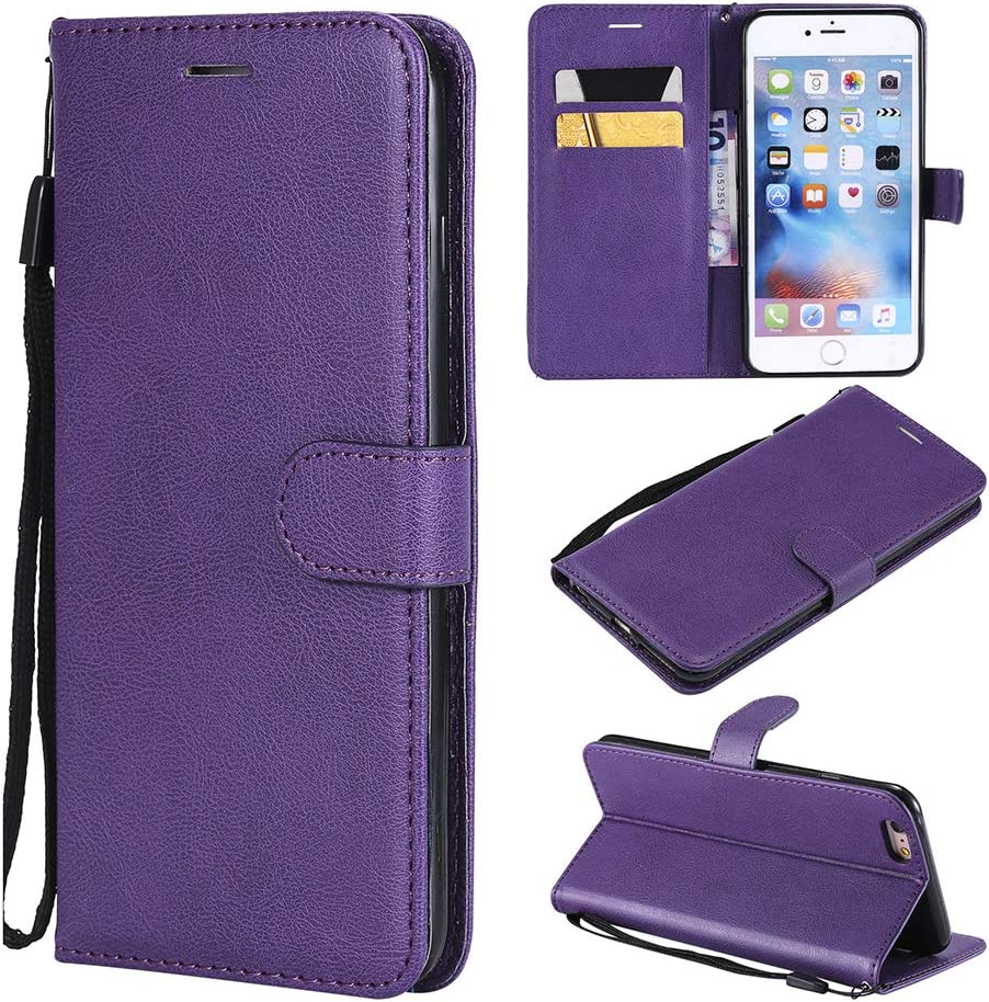 "Case for iPhone 6S Plus/iPhone 6 Plus (5.5""), Premium PU Leather iPhone 6Plus Wallet Case [Flip Kickstand] [Folio Cover] with Card Slots Compatible iPhone 6S+ Plus/iPhone 6+ Plus (5.5"") - Purple"