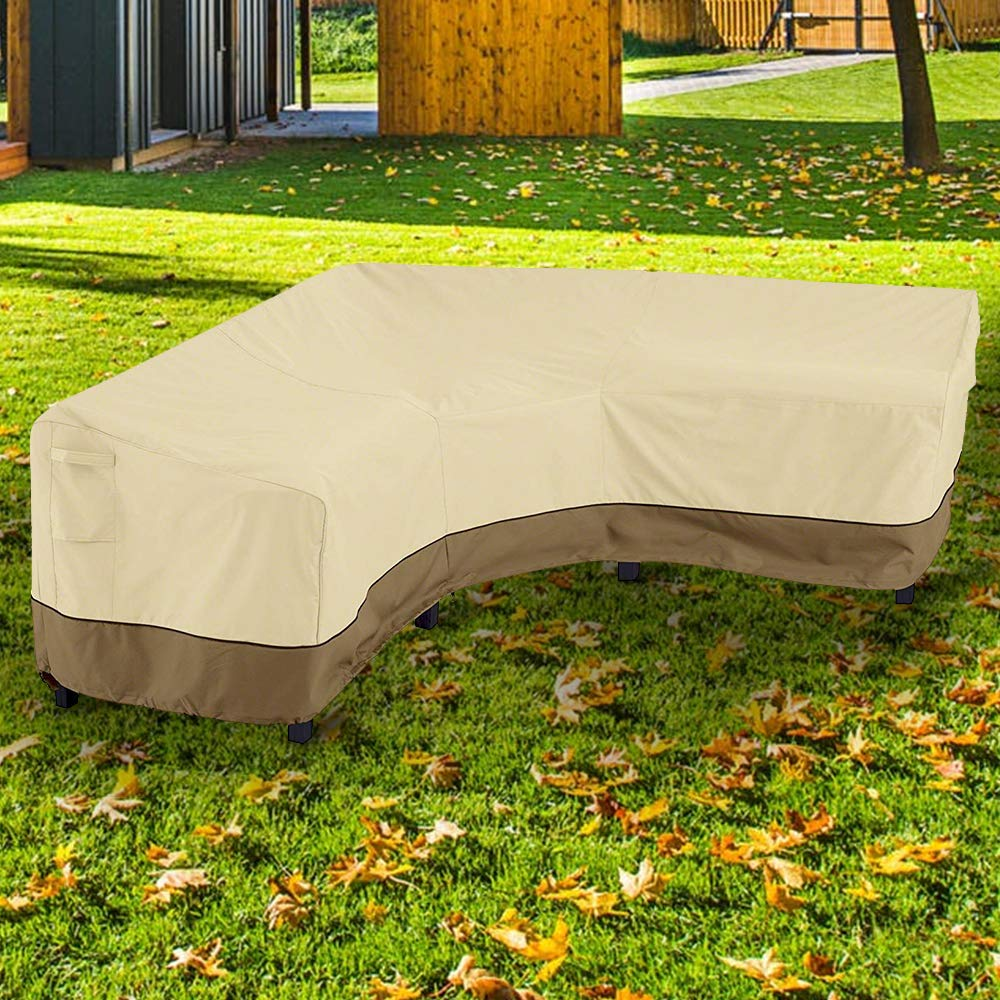 L Shaped Heavy Duty Patio Garden Furniture Cover Outdoor Protector Waterproof