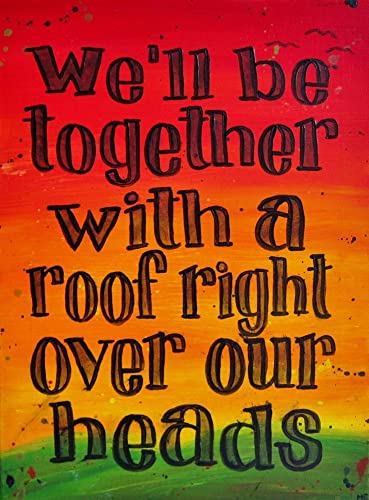 Amazon Song Lyric Wall Art 60x60 Art Print We'll Be Together Fascinating Love Quote For Rastafari