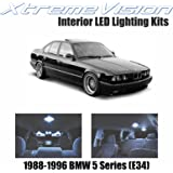 XtremeVision BMW 5 Series (E34) 1988-1996 (8 Pieces) Cool White Premium Interior LED Kit Package + Installation Tool