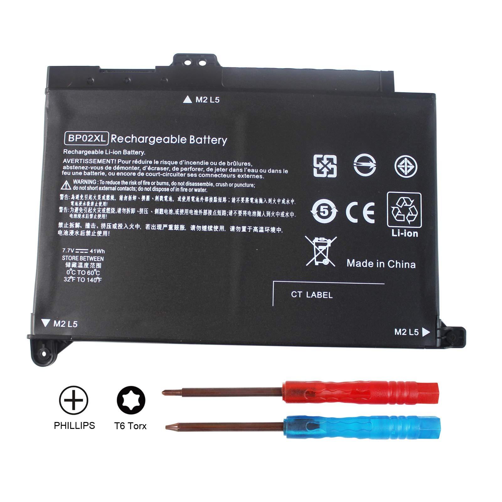 Bateria BP02XL para HP Pavilion PC 15 15-AU000 15-AU010WM 15-AU018WM Series HSTNN-UB7B HSTNN-LB7H 2ICP7/65/80 849569-542