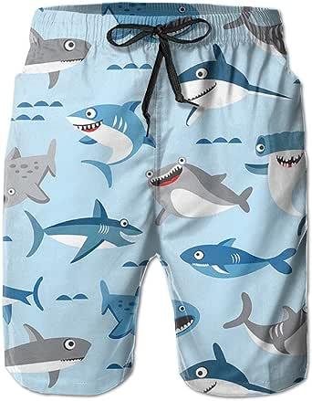 Summer Mens Beach surfing swim Shorts Mens shark print ... |Shark Board Shorts For Men