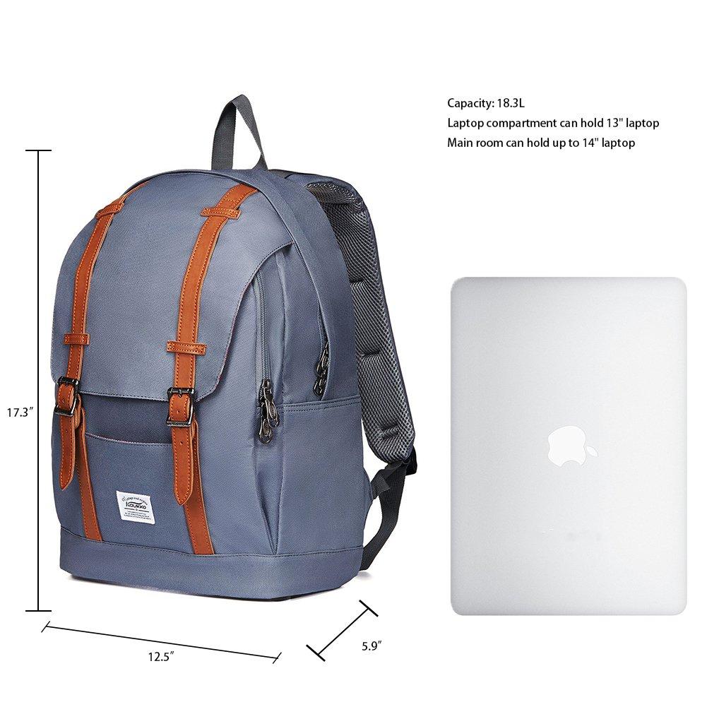 /… arm/ée verte Sac /à dos quotidien d/écontract/é KAUKKO Sac /à dos d/él/èves l/égers Sac de rangement pour ordinateur portable 16 pour Voyage//Sport//Camping