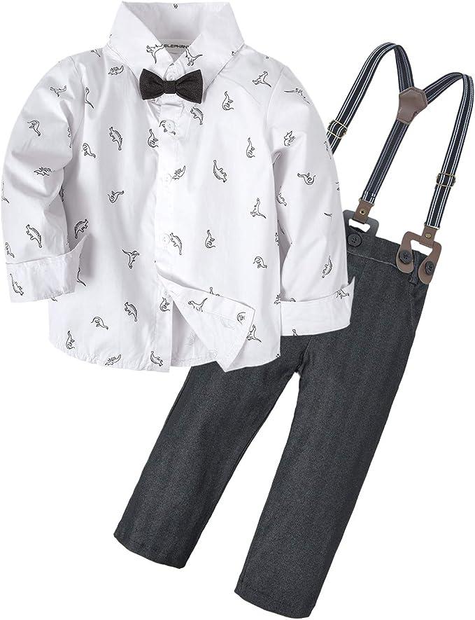 Size 7 Big Elephant Boys 2 Piece Cowboy Long Sleeve Jeans Outfit Denim Clothing Set H18