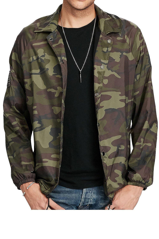 82c8bd5644263 Denim & Supply Ralph Lauren Men's Camo Windbreaker at Amazon Men's Clothing  store: