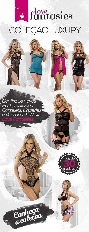 9c4165ec2 Fantasia Estudante - Sutiã + Mini Saia + Gravata + Meia fina  Amazon.com.br   hpc