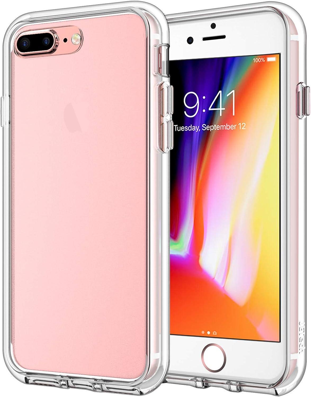 JETech Funda para iPhone 8 Plus / 7 Plus, Carcasa Anti-Choques y Anti-Arañazos, Transparente