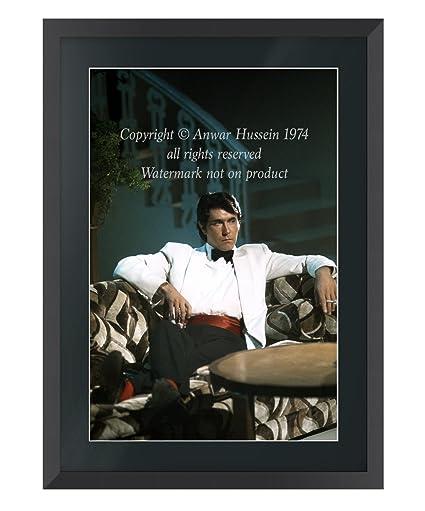 Bryan Ferry Roxy Music grande Fine Art foto enmarcada, Madera de Ayous, Black Frame