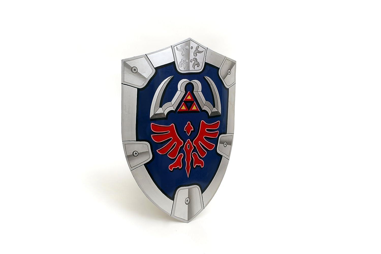 Mythrojan Deluxe Steel Zelda Hylian Shield Replica with Straps LARP Cosplay Triforce