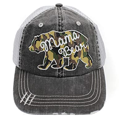 524c9a41b43 Image Unavailable. Image not available for. Color  Mama Bear Women s  Trucker Hats ...