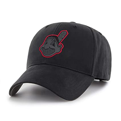 3785b343b Image Unavailable. Image not available for. Color: Fan Favorite MLB  Cleveland Indians Black Mass Adjustable Hat