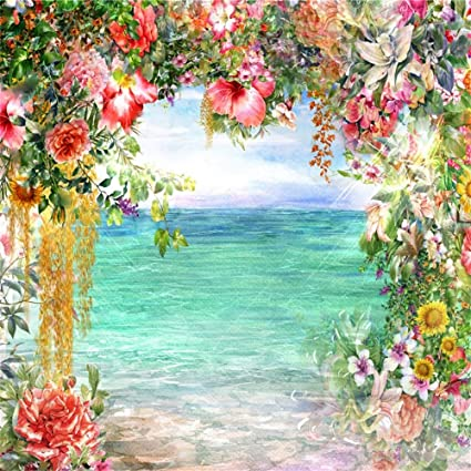 AOFOTO 8 x 8 pies Cuentos de Hadas Flores Arco Puerta Azul ...