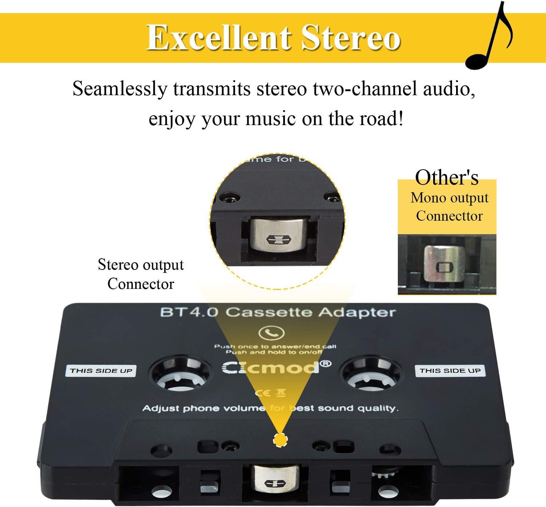 cable apto para RCD210 RCD300 RCD310 RNS300 RNS31 Adaptador de m/úsica Bluetooth para coche receptor Qiilu Adaptador de m/úsica Bluetooth para coche micr/ófono
