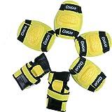 WinLine キッズプロテクター 膝/肘/手首 スポーツプロテクター 保護パッド 6点セット 3色