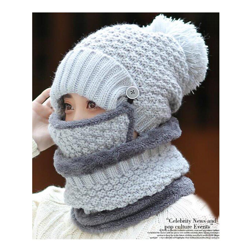 激安特価 luckyshd冬防風キャップ暖かい面カバー調整可能スキー帽子3 - in - in 1キャップ ライトグレー Size:Neck scarf:26*19cm/10.2 -*7.5inch Winter-0048 ライトグレー B077FH8CQN, 厚岸町:603f2912 --- specialcharacter.co
