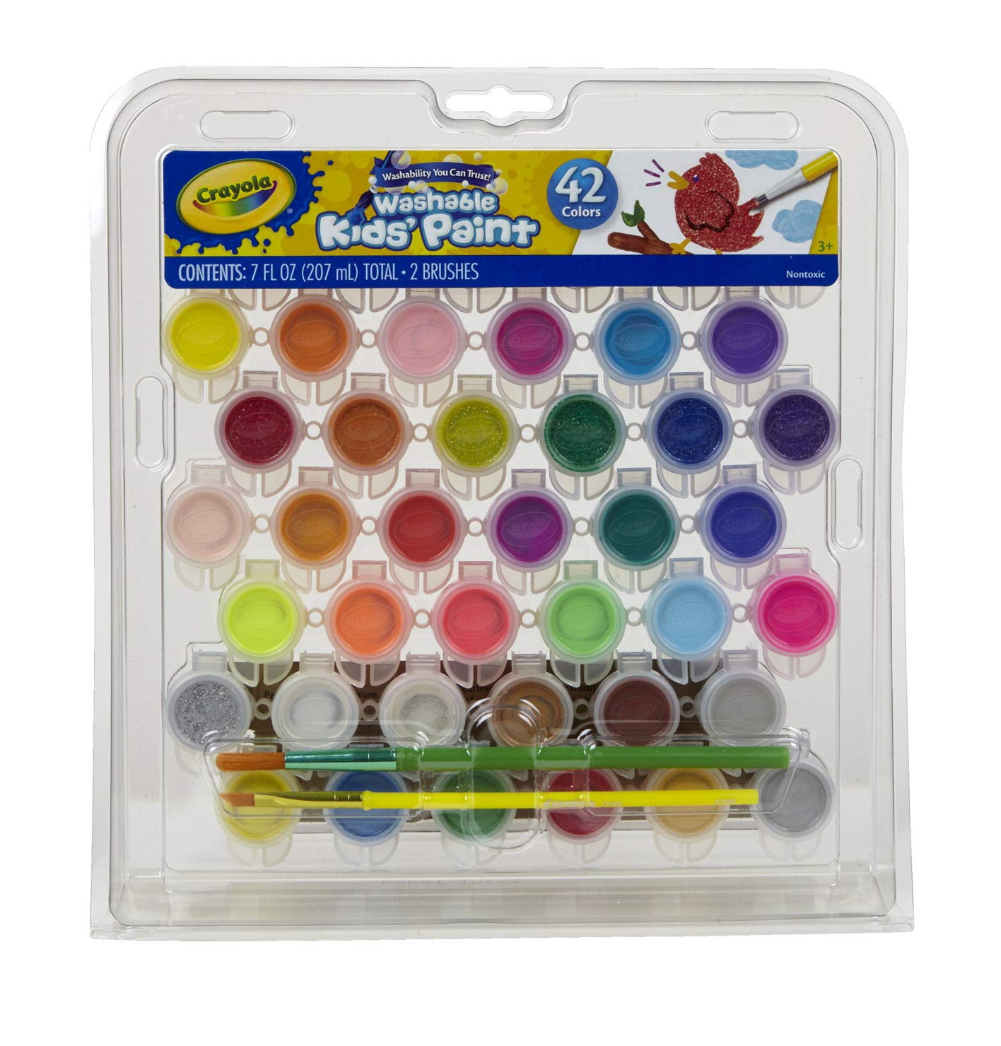 Crayola Kid's Washable Paint Set, 42 Ct., Gift for Kids, Ages 3, 4, 5, 6, 7 by Crayola