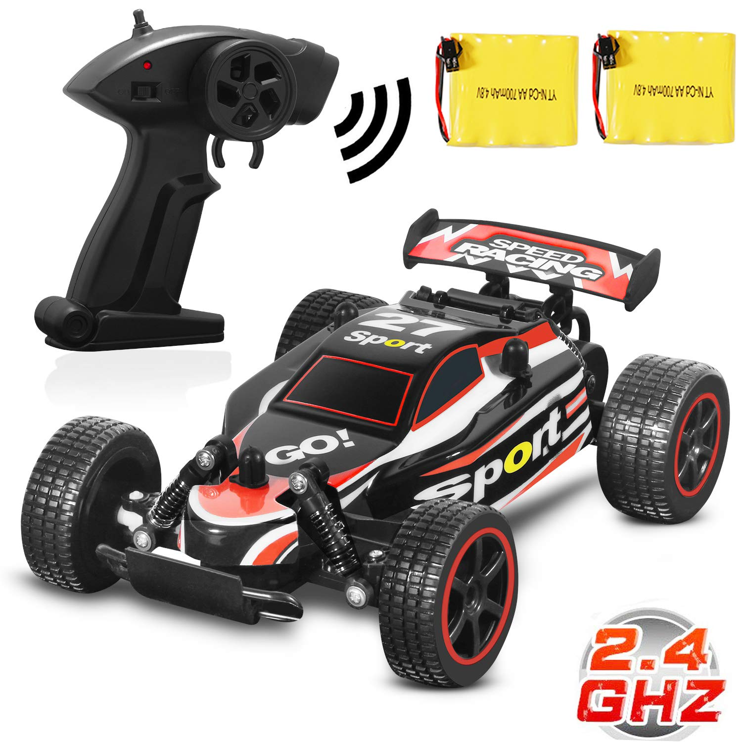 Blexy RC Racing Cars 2.4Ghz High Speed Radio Remote Control Car 1: 20 2WD Racing Toy Cars Electric Vehicle Fast Race Buggy Hobby Car Red 211