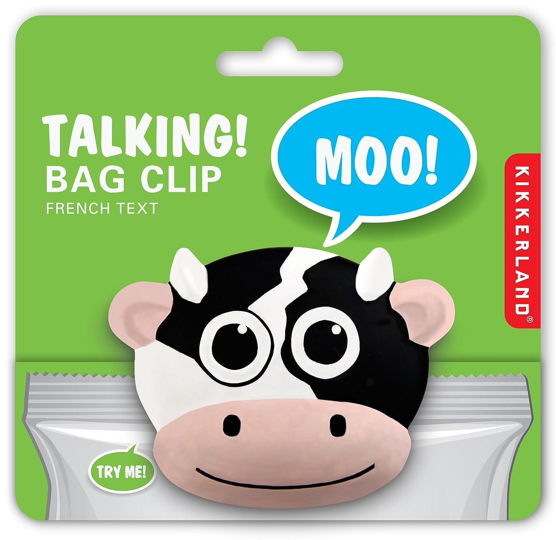 kikkerland cow talking bag clip food savers kitchen