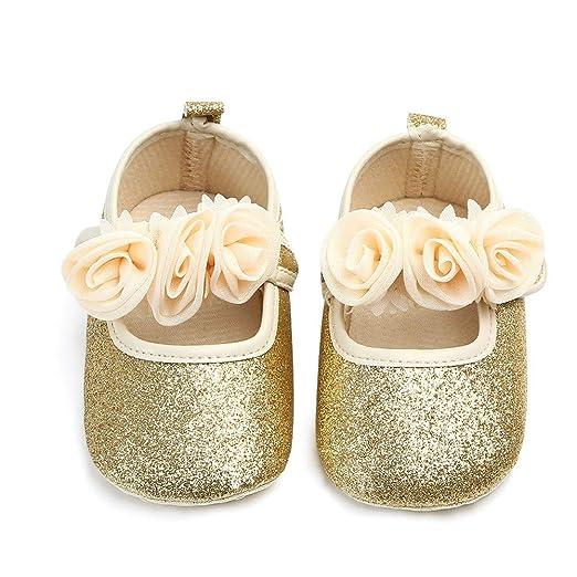 Amazon.com  Infant Moccasins - Newborn Baby Boys Girls Soft Sole Flower  Bling Toddler First Walker Soft Sole Shoes  Clothing 12695a3af36f